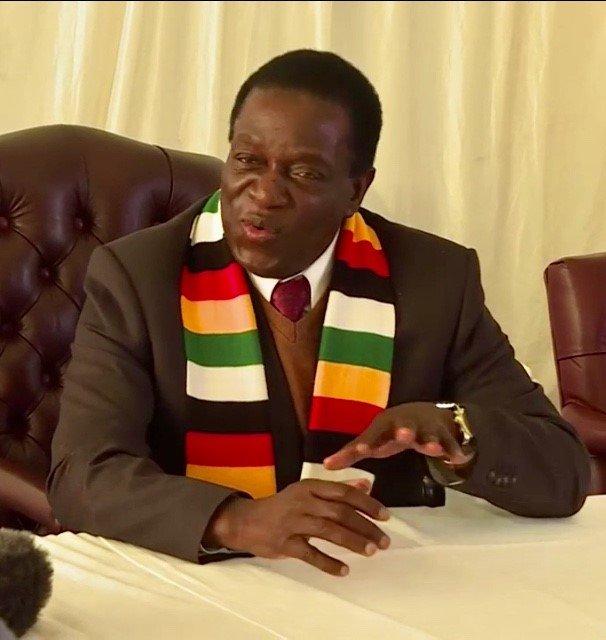 Zimbabwean President Emmerson Mnangagwa