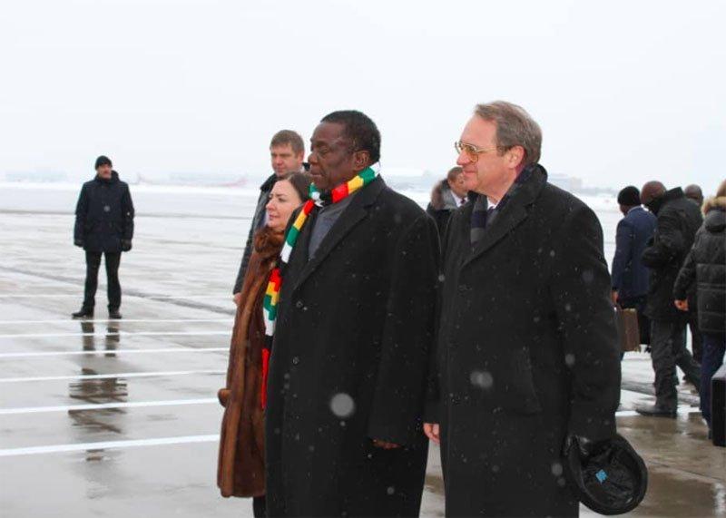 Emmerson Mnangagwa in Russia