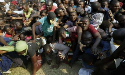 Stampede at Robert Mugabe's memorial
